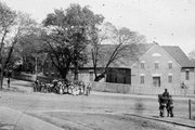First African Baptist Church at Broad and College streets in 1865. Many African-Americans took refuge in the church, fearing they would be made into human shields by Confederates.