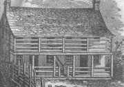 """Sketch of Lumpkin's Jail from """"A History of the Richmond Theological Seminary."""""""