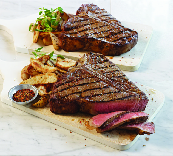 Fire up the grill and serve up robust, savory cuts, such as Omaha Steaks T-bone or Rib Crown selections for ...