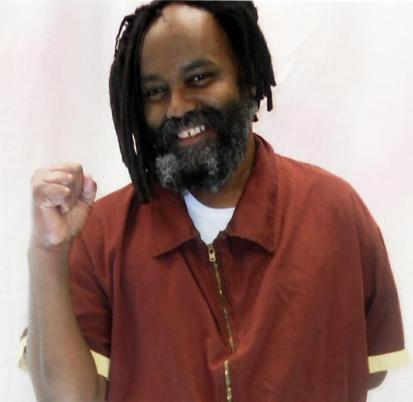 "Supporters from ""The Mobilization for Mumia"" converged at the Philadelphia district attorney's office, (3 South Penn Square) on the afternoon ..."