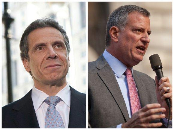 New York City Mayor Bill de Blasio on Monday picked up the endorsement of Gov. Andrew Cuomo, his fellow Democrat ...
