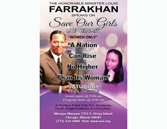"""The Nation of Islam is holding an event designed to uplift and empower African-American women. The event is called """"Save ..."""