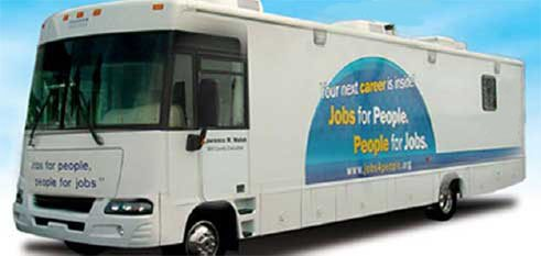 The mobile unit travels throughout Will County to help residents with resume development, cover letters and job applications. The center ...
