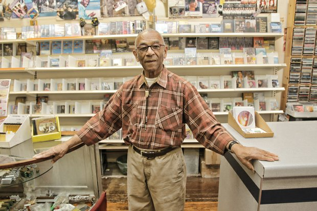 "Barksdale ""Barky"" Haggins has maintained his record store business in Downtown for nearly six decades."