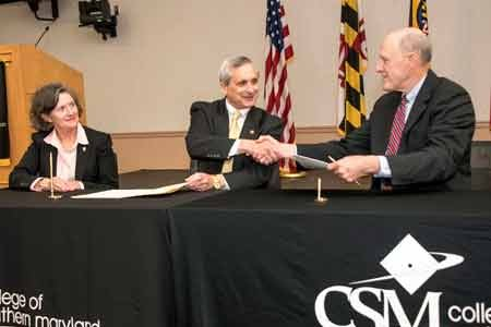 The College of Southern Maryland (CSM) and the University of Maryland School of Nursing (UMSON) signed an agreement of dual ...