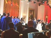 "Morgan State University Choir sang with Aretha Franklin, Shirley Caesar and Tamela Mann in the East Room at the White House on Tuesday, April 14, 2015. At the suggestion of First Lady Michelle Obama, the Morgan State University choir was asked to sing in a special concert for the ""In Performance at the White House"" Series-The Gospel Tradition. The concert will be rebroadcast nationally on April 24 and June 26 2015 on PBS and other stations. Check the television listings in your area."