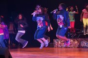 """Students from MacGregor Elementary, Stevenson Middle School and Wheatley High School perform """"One Stop Hip-Hop Shop"""" in 2013."""