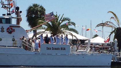 Tour a real Cost Guard Cutter manned by The Sea Scouts