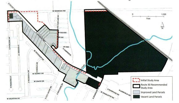 A firm hired by the village board found the stretch of U.S. 30 between Renwick and Spangler roads meets the ...