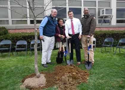 Following Earth Day, an Arbor Day celebration was held on Thursday, April 23, 2015 at Wiley H. Bates Middle School ...
