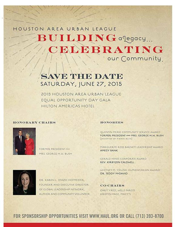 Houston Area Urban League l Building a Legacy l Celebrating Our Community l SAVE THE DATE - Saturday, June 27, ...
