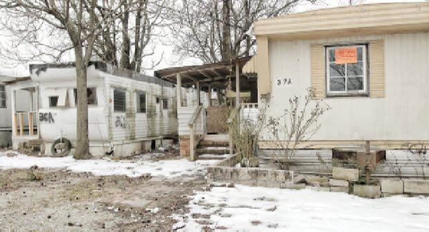 Abandoned trailers at Rudd's Trailer Park on Jefferson Davis Highway on South Side present an inviting target for vandals