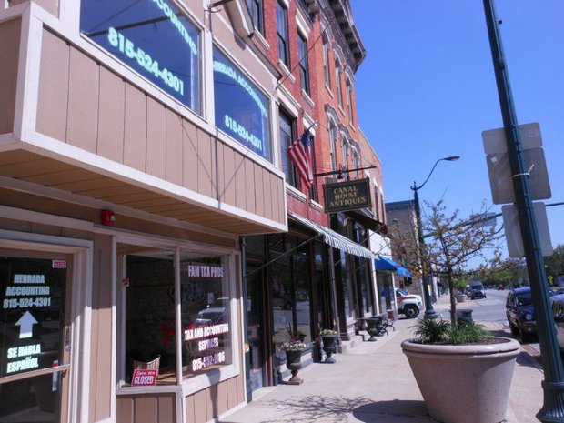 Canal House Antiques is one one of many stores on State Street in downtown Lockport; owner Rosemary Winters is a huge advocate of the district's future.