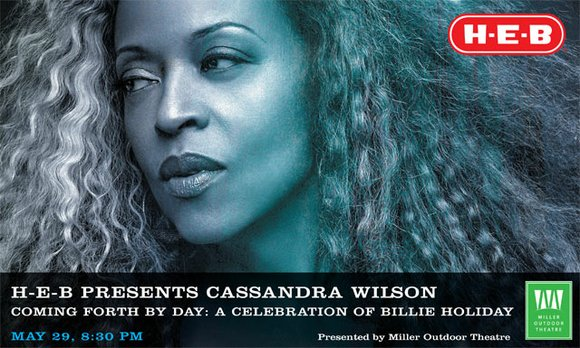 H-E-B Presents Cassandra Wilson l May 29, at 8:30pm l Miller Outdoor Theatre