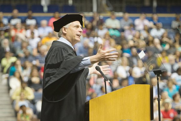 Gov. Terry McAuliffe delivered a three-pronged recipe for success to the more than 5,000 graduates at Virginia Commonwealth University's commencement ...
