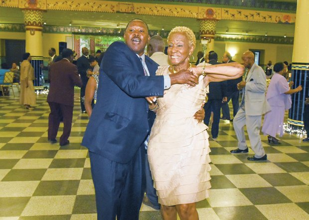 You don't have to be a high school student to enjoy the prom. Dore Lindsey and Hattie Sturtevant take to the dance floor at the 2015 Mayor's Senior Spring Prom held May 7 in the Altria Ballroom.