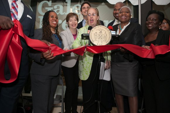 Manhattan Borough President Gale Brewer opened the doors to her storefront location at 431 West 125th Street.