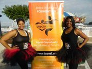 Two fashionable sisters were happy to support the 2015 Hope Without Boundaries 5K Walk/Run that was held at the National Harbor on May 30, 2015.