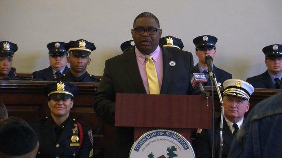 "Irvington, N.J., Mayor Tony Vauss recently introduced the township's ""Summer Crime Plan"" at Irvington Town Hall."