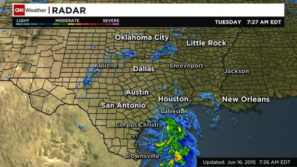 Tropical Storm Bill came ashore on the Texas Gulf Coast at midday Tuesday, bringing more rain to a region recovering ...