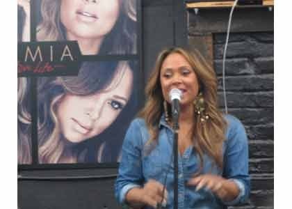 On Thursday, June 11, 2015, the lovely and talented Tamia made a stop in Baltimore to perform a short acoustic ...
