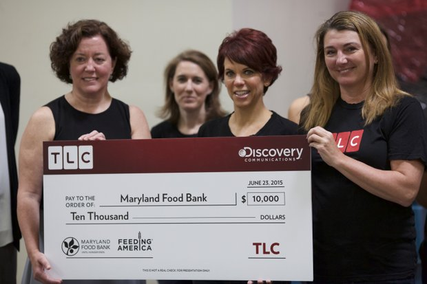 L-to-R: Meg Kimel (VP, Marketing and Communications, Maryland Food Bank) and Vicki Lowell(EVP,Marketing, TLC)