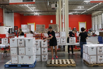 TLC employees helped to package more than 6,000 pounds of food at the Maryland Food Bank