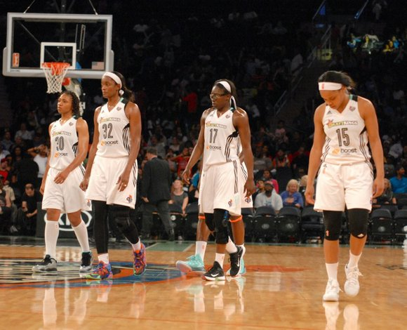 """""""We've got to step up and be there mentally,"""" said New York Liberty guard Essence Carson after a dismal 80-63 ..."""