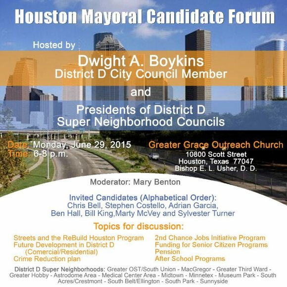On Monday, June 29, 2015, Houston City Council Member Dwight Boykins, along with Presidents of the District D Super Neighborhoods, ...