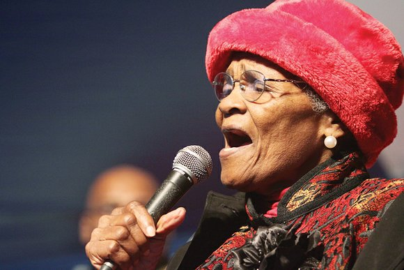 "Evangelist Maggie Ingram — known as the ""Gospel Queen of Richmond"" — brought audiences to their feet in praise and ..."