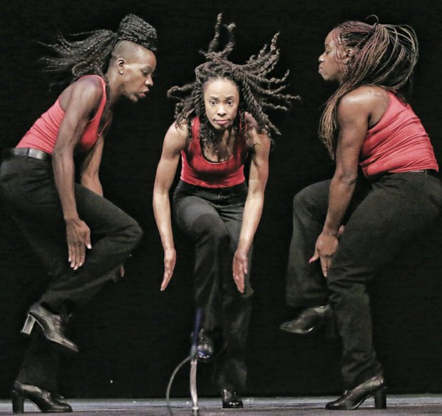 "REVEL IN THE ARTS- Members of the internationally acclaimed Step Afrika! step group perform at the Virginia Museum of Fine Arts last Saturday in ""Celebrate African and African-American Art: All Good!"" a celebration of all art forms."