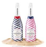 Chandon American Summer just can't get enough of stripes this season! The Brut Classic is wrapped in nautical blue and ...