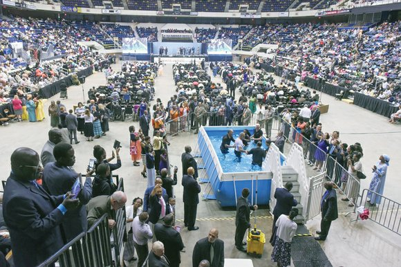 Thousands of Jehovah's Witnesses attend the first of the annual district conventions last Saturday at the Richmond Coliseum in Downtown. ...