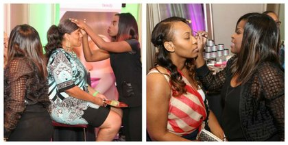 Celeb MUA Kim Roxie and Lamik Cosmetics provided makeup touchup services.