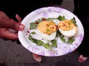 Red Rooster deviled eggs