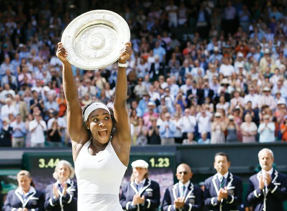 Serena Williams, up 5-1 after already winning a set during the finals at Wimbledon on Saturday, duly completed the job ...