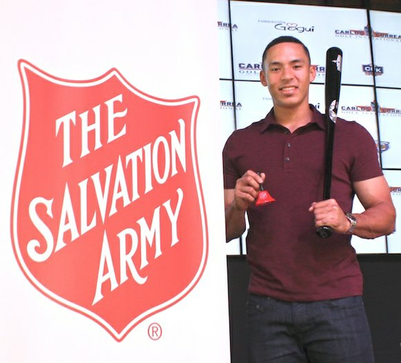 Carlos Correa, Houston Astros baseball player, and The Salvation Army of Greater Houston have teamed up to do outreach for ...