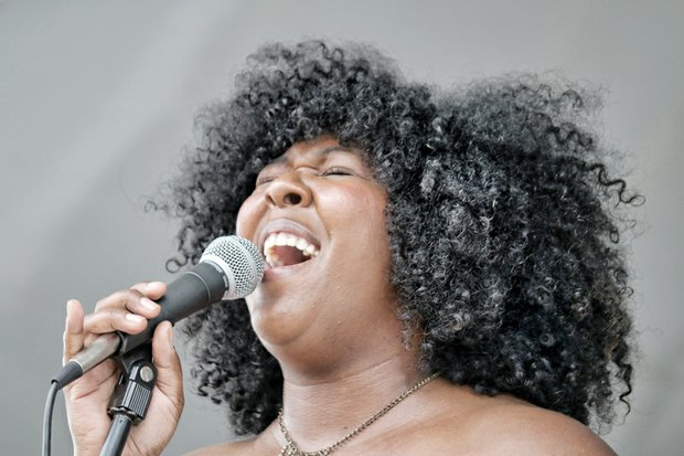 PAST, PRESENT COME TOGETHER AT HISTORY FESTIVAL - Richmond R&B singer Bri Luv performs to a rapt audience.