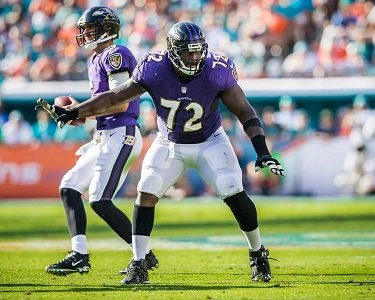 The Baltimore Ravens were able to run the ball very consistently last season thanks to the offensive line.