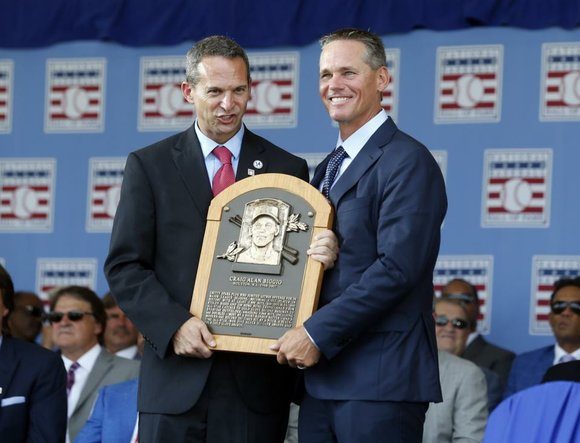 In front of close to 50,000 fans, many of which were from Houston, Craig Biggio was officially inducted into the ...
