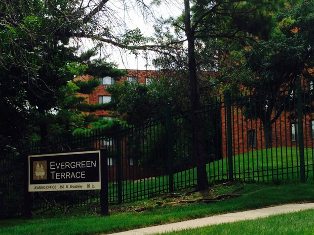 The Evergreen Terrace apartment complex is located on Joliet's near West Side, along the banks of the Des Plaines River.
