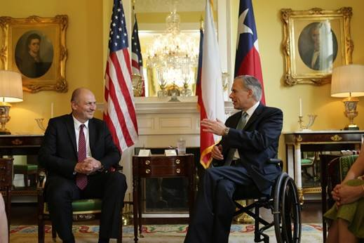 Governor Greg Abbott today met with Petr Gandalovič, Ambassador of the Czech Republic to the United States, to discuss the ...