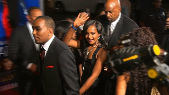 It was to be a day close family and friends said good-bye to Bobbi Kristina Brown.