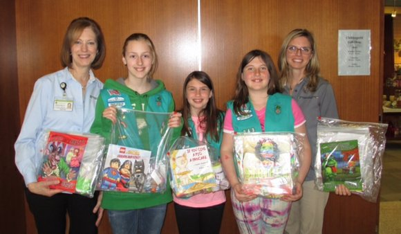 The donated items will be given to pediatric therapy patients being treated by the Rehabilitation Institute of Chicago at Silver ...