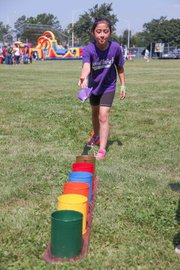 Carnival-style games are among the highlights of the annual Back-2-School Back, co-sponsored by The Times Weekly, the Joliet Park District and Shiloh Baptist Church.