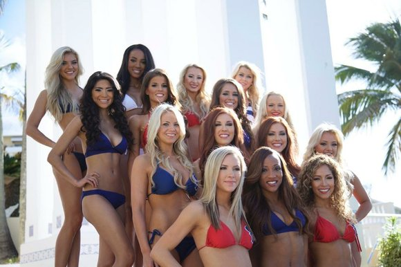The 2015-16 Houston Texans Cheerleaders Swimsuit Calendar reveal party will take place this Saturday, August 8, from 11:00 a.m. - ...