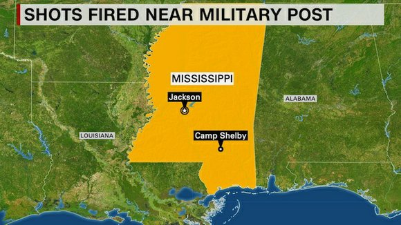 Mississippi authorities have arrested a man in connection with recent reported gunfire near the Camp Shelby military post -- though ...