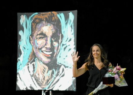 Becky Hammon's introduction into the Liberty Ring of Honor