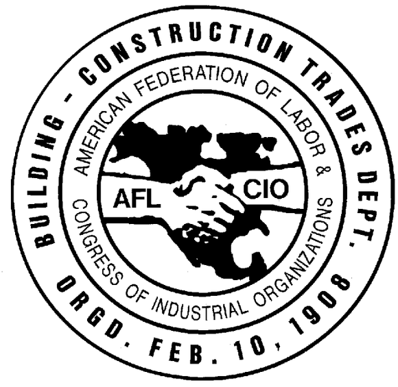 Building and Construction Trades members protest at
