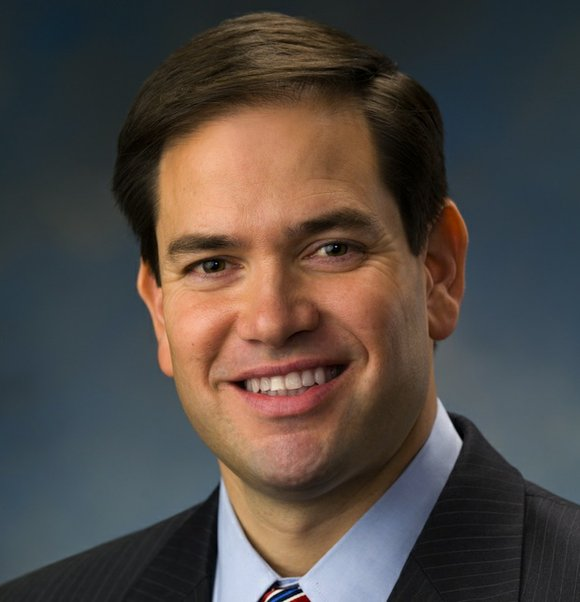 Florida Sen. Marco Rubio deflected a question about the water crisis in Flint, Michigan, on Monday, the day after Hillary ...